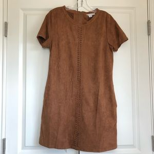 Suede Brown Shift Dress